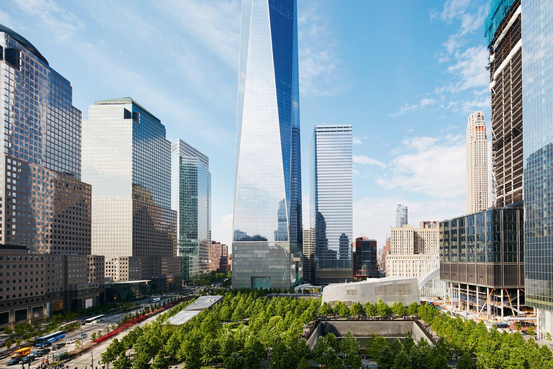 Lower Manhattan as seen from Club Quarters Hotel, World Trade Center