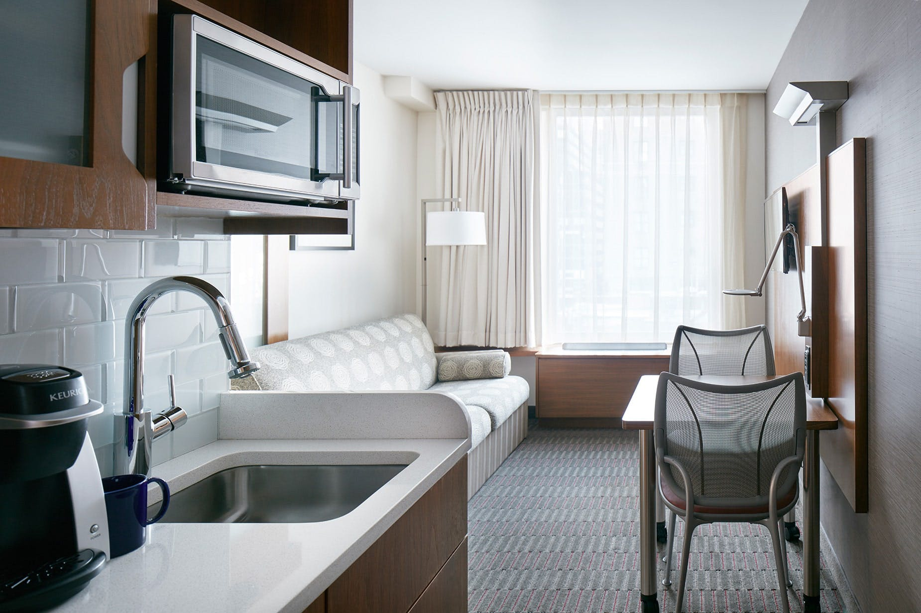 One Room Suite with Kitchenette, Club Quarters Hotel, Grand Central, NYC