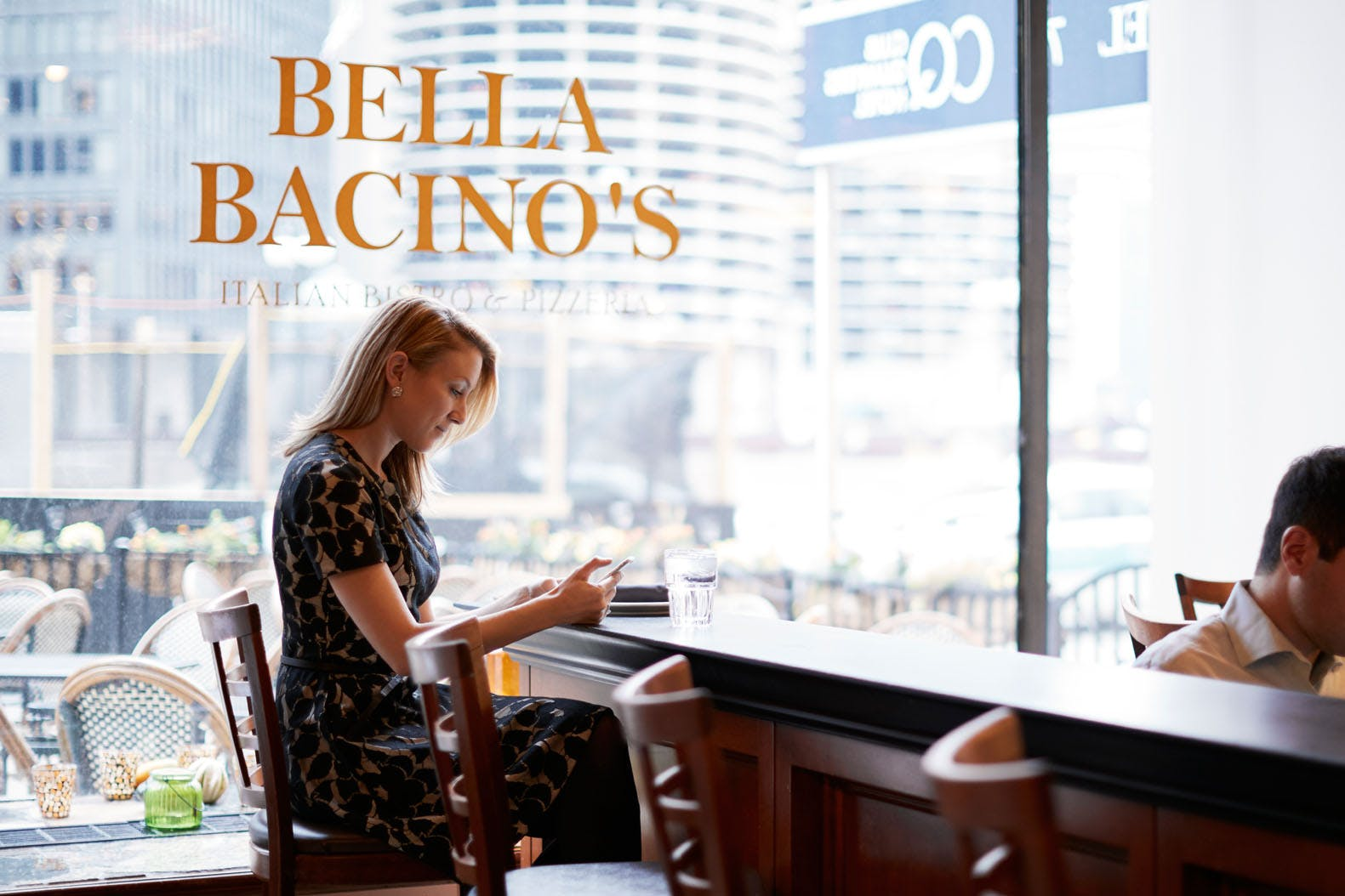 Bella Bacino's Restaurant at Club Quarters Hotel, Wacker at Michigan, Chicago