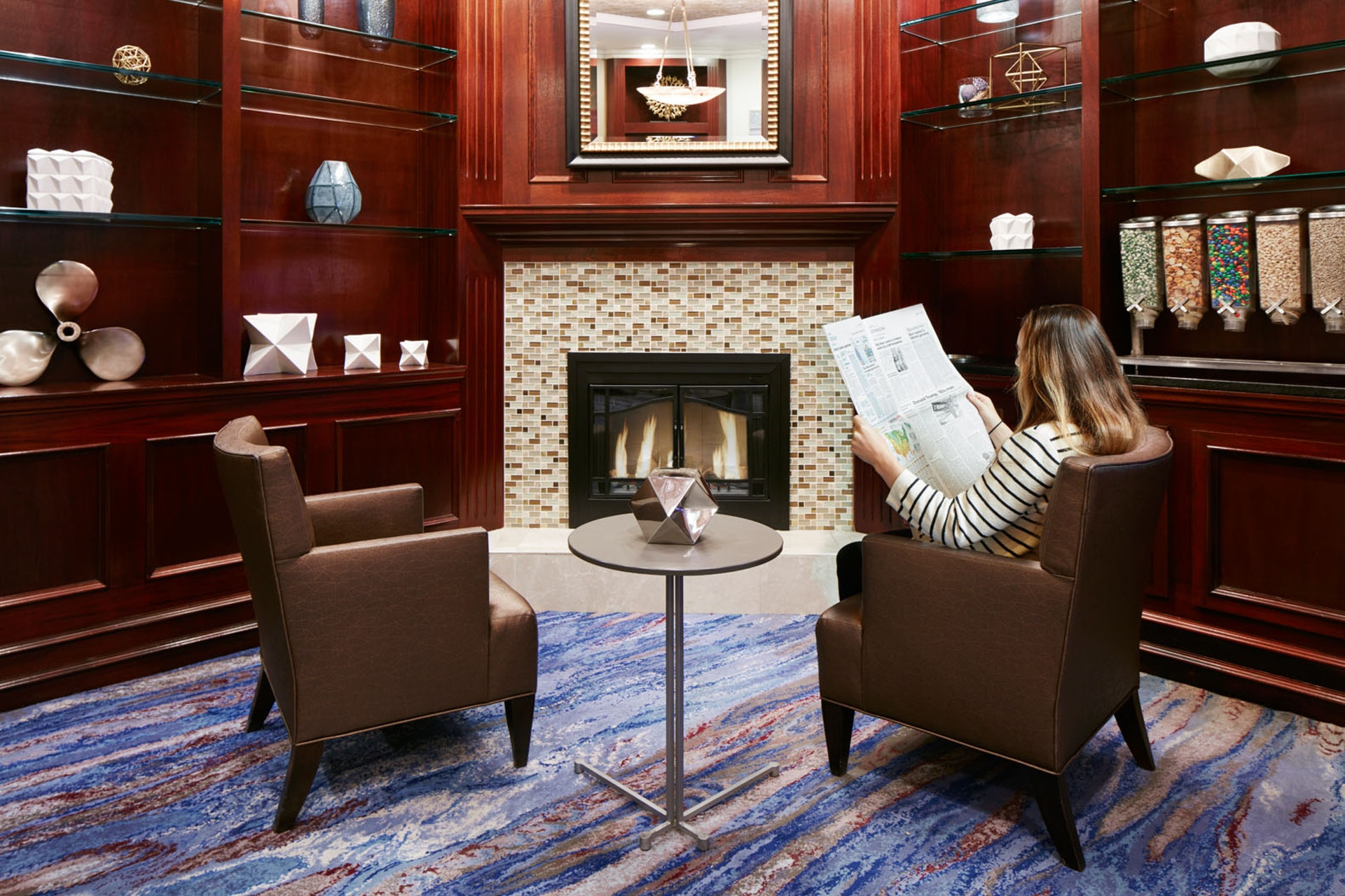 Club Living Room at Club Quarters Hotel in Boston