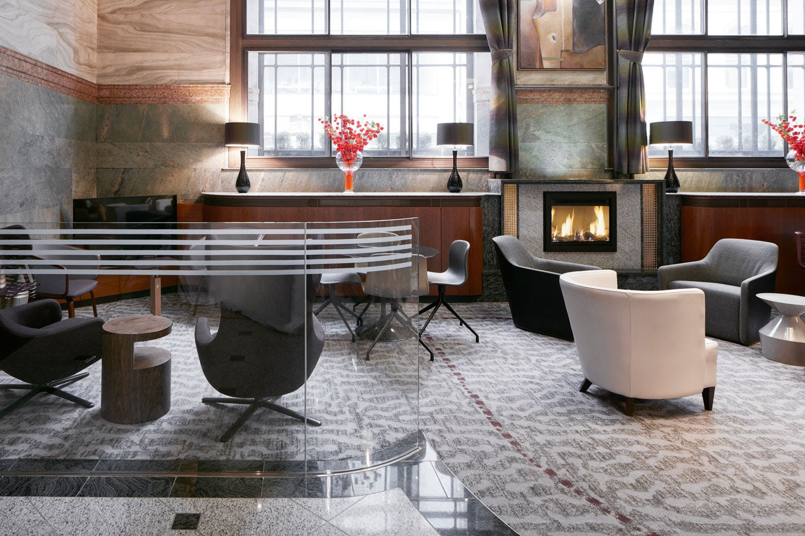 Club Lounge at Club Quarters Hotel, Gracechurch, London
