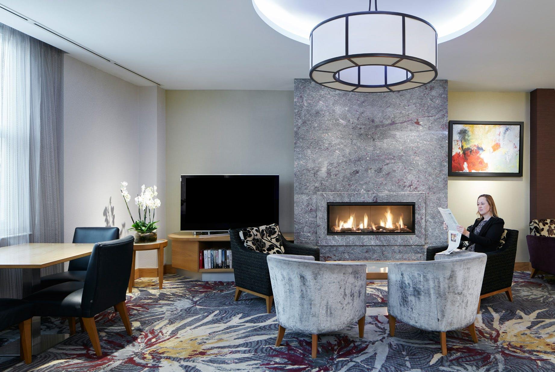 Club Living Room at Club Quarters Hotel, Lincoln's Inn Fields-Holborn, London