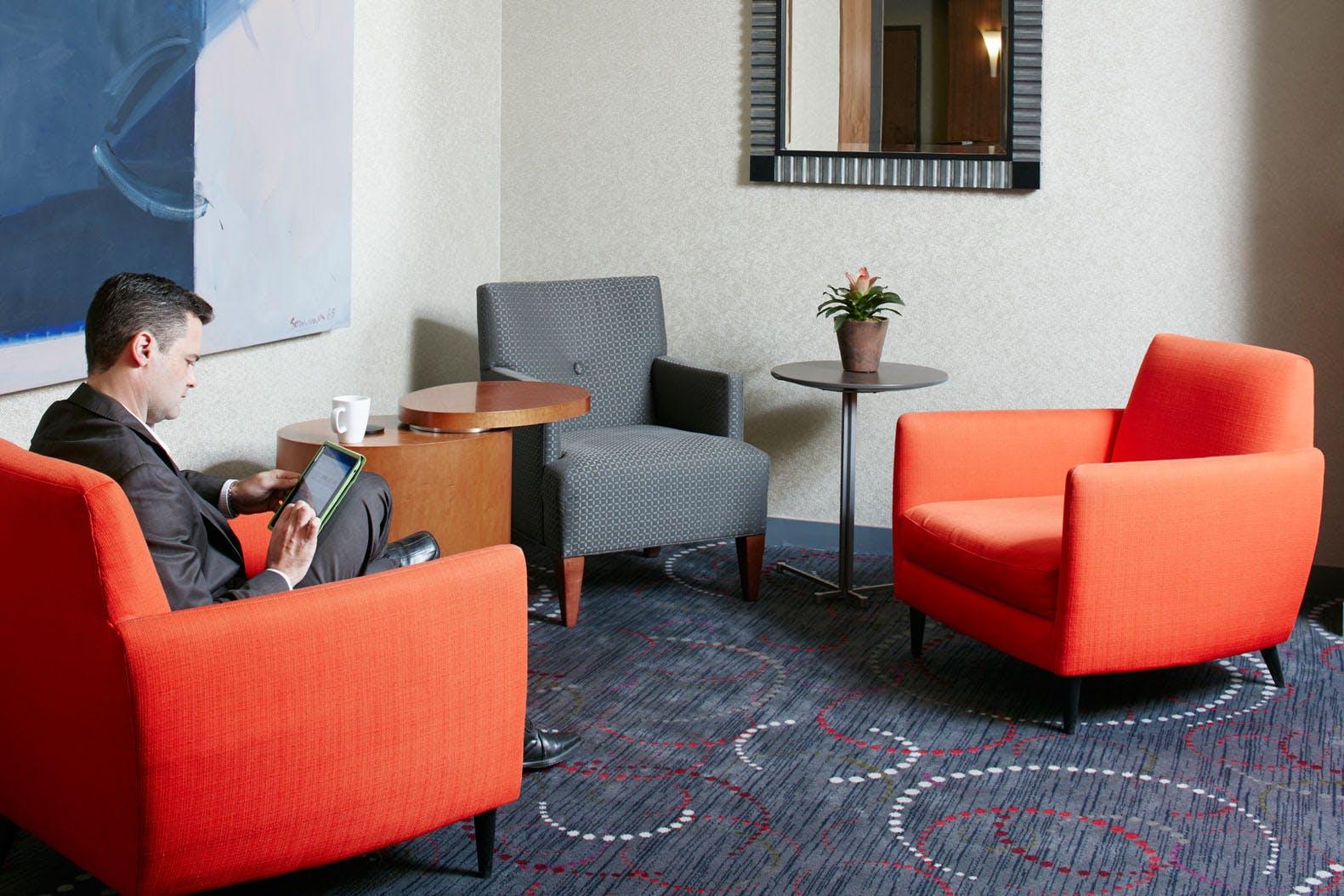 Club Living Room at Club Quarters Hotel in San Francisco