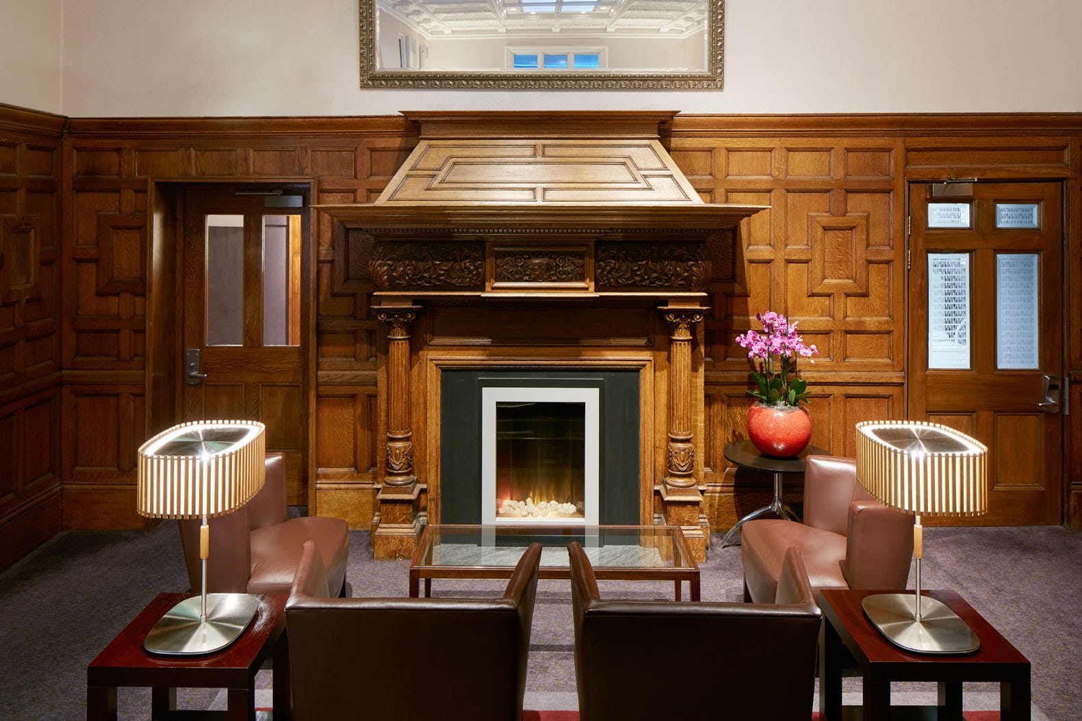 Club Living Room exclusively for members at Club Quarters Hotel, Trafalgar Square, London