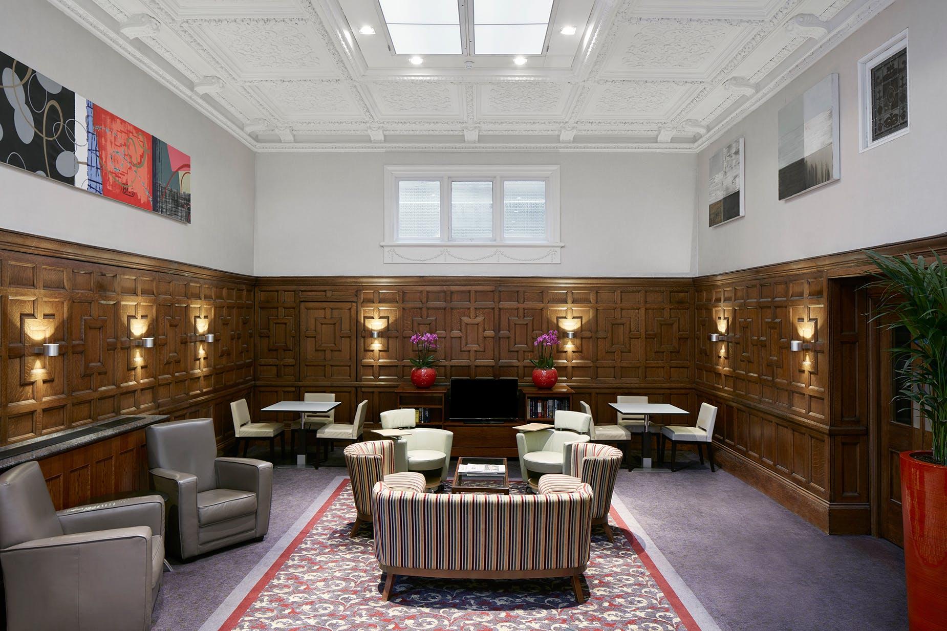 Club Living Room at Club Quarters Hotel, Trafalgar Square, London