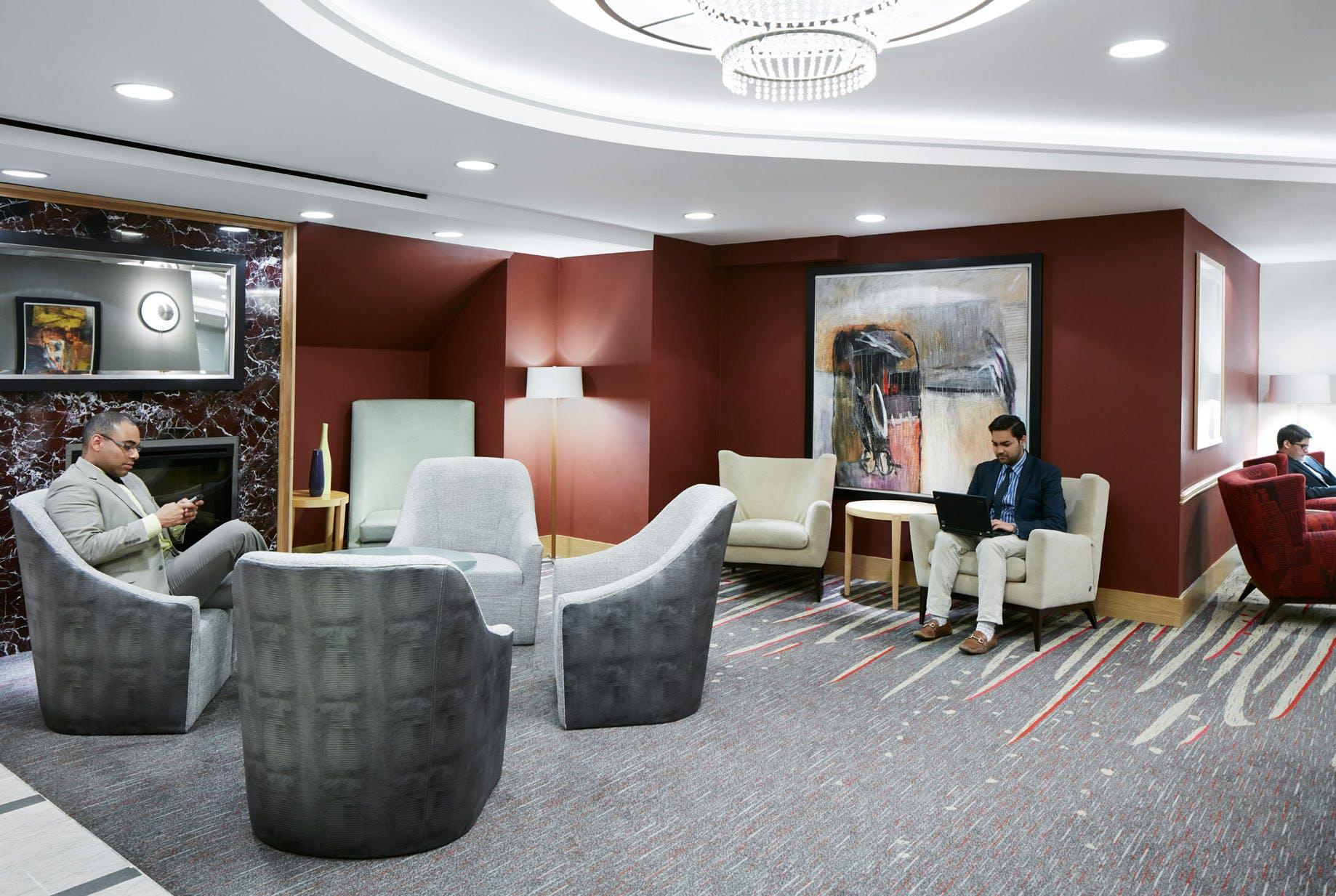 Club Living Room at Club Quarters Hotel, World Trade Center