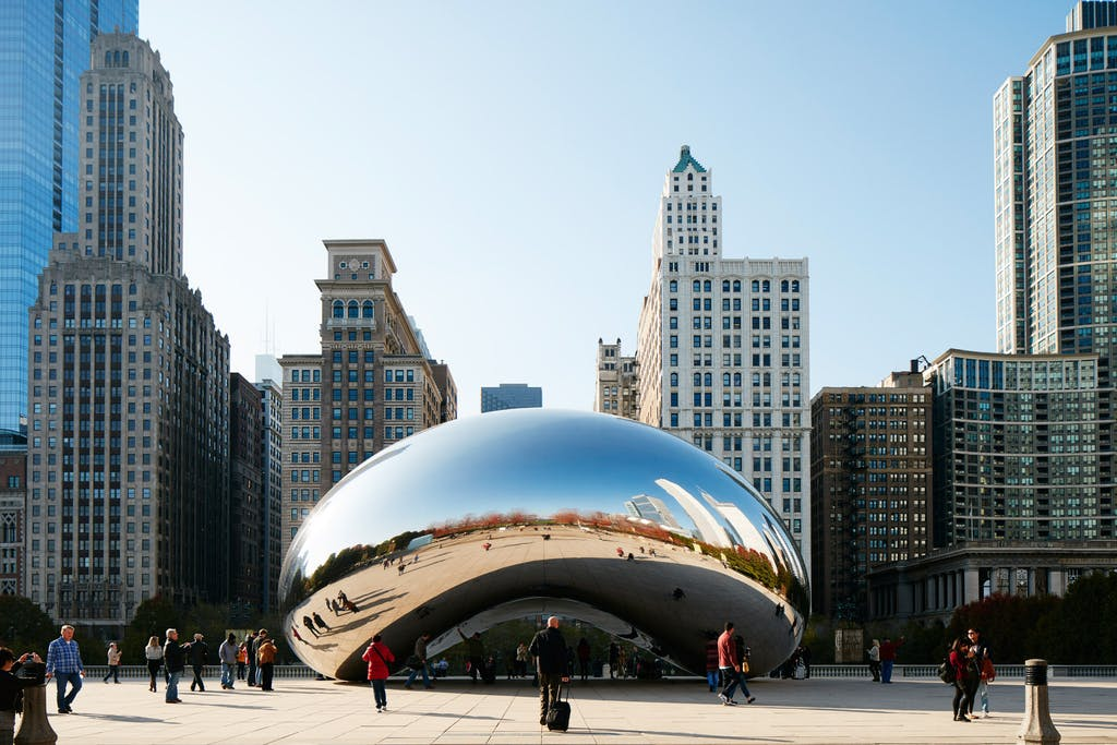 Cloud Gate, within walking distance of Club Quarters Hotel, Wacker at Michigan, Chicago