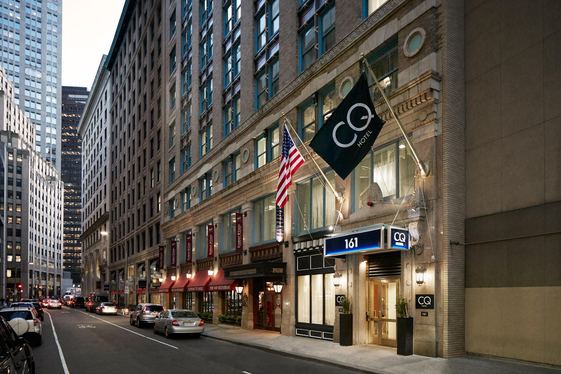 Exterior of Club Quarters Hotel in Boston