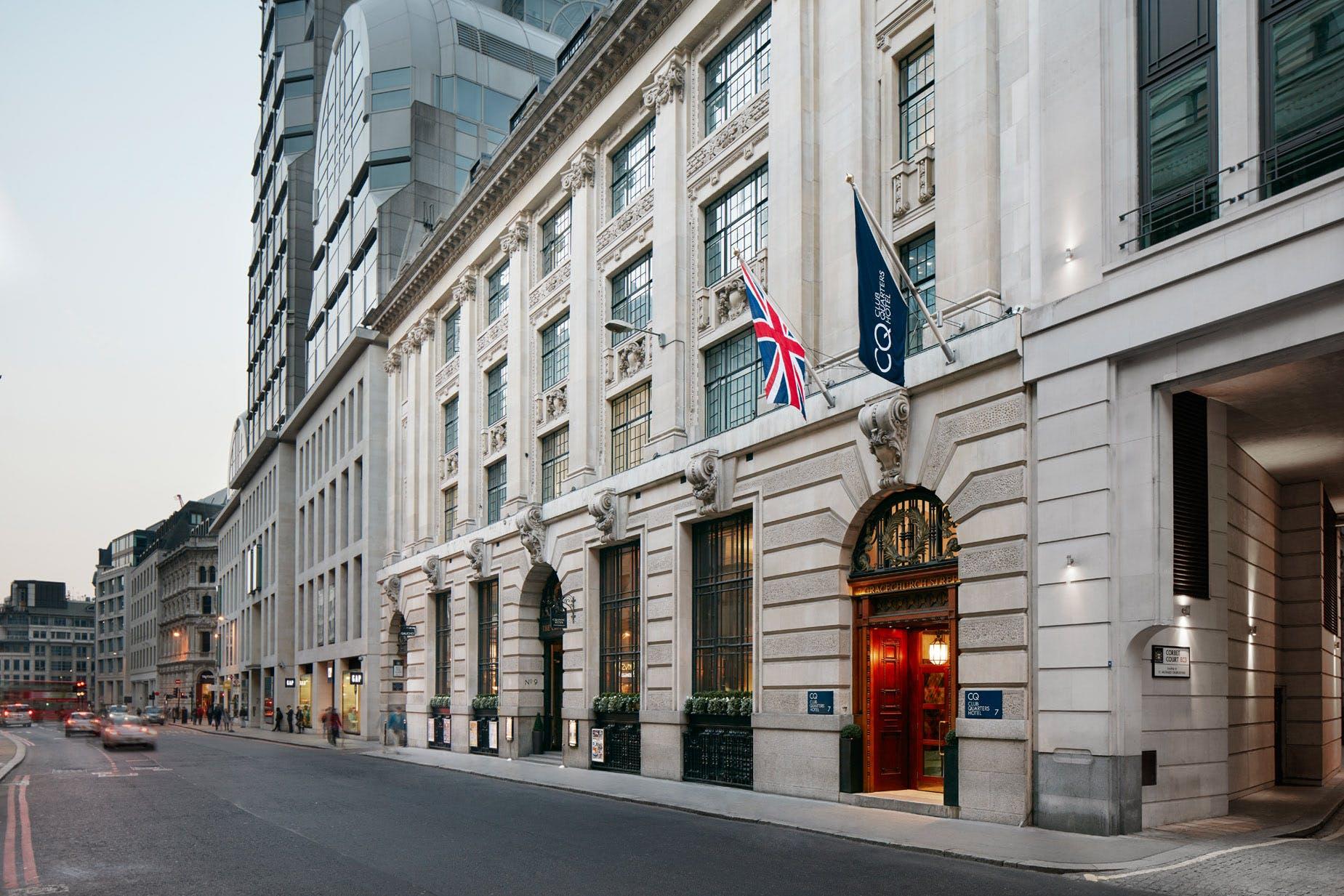 Exterior of Club Quarters Hotel, Gracechurch, London