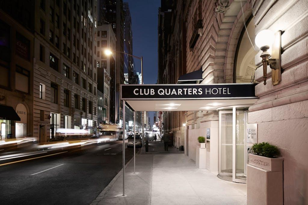 Exterior Of Club Quarters Hotel Times Square
