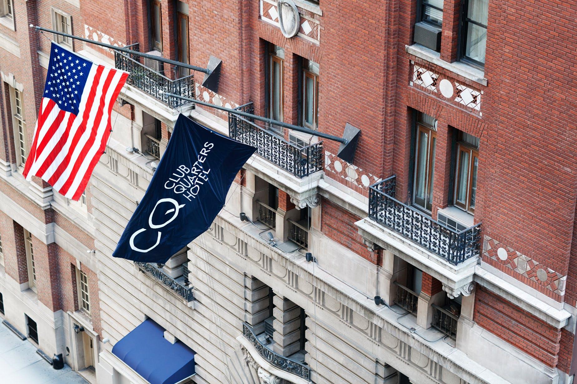 Historic landmark building - Club Quarters Hotel, Times Square