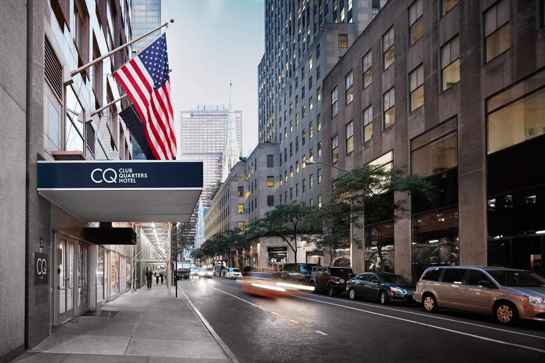 Exterior Of Club Quarters Hotel, Opp Rockefeller Center New York City