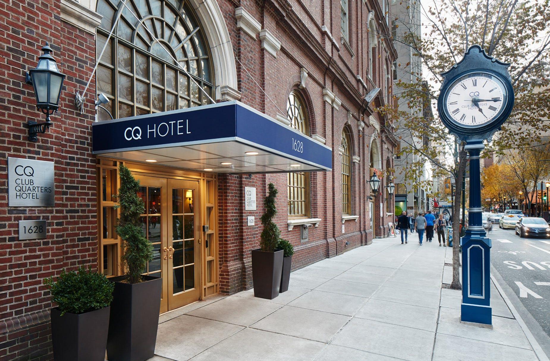 Exterior of Club Quarters Hotel in Philadelphia