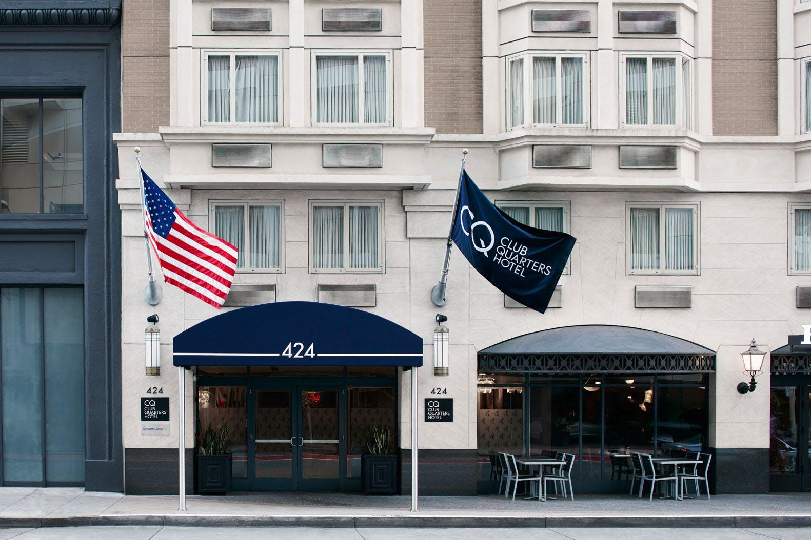 Exterior of Club Quarters Hotel in San Francisco