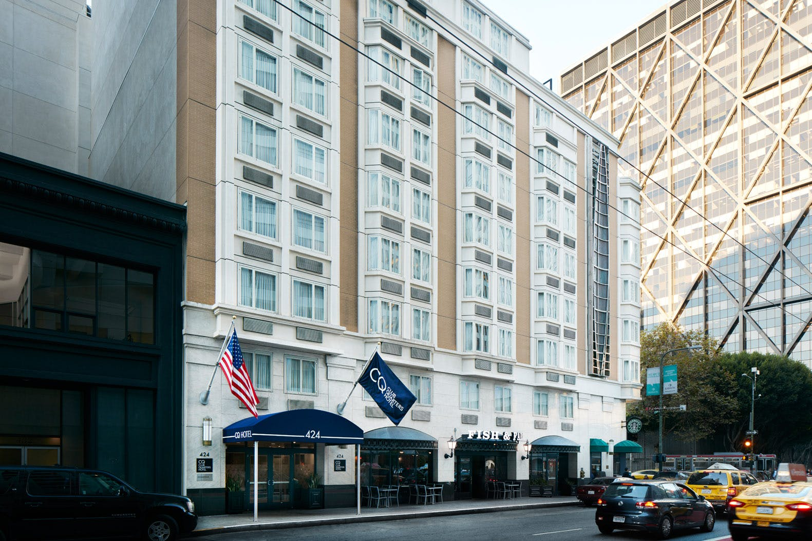 Exterior of Club Quarters Hotel in San Francisco