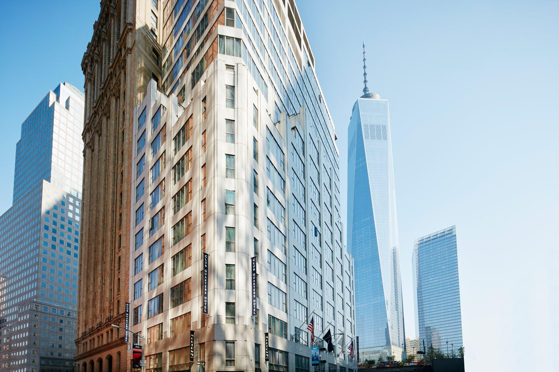 Club Quarters Hotel, World Trade Center, steps from One World Trade Center, Lower Manhattan, NYC