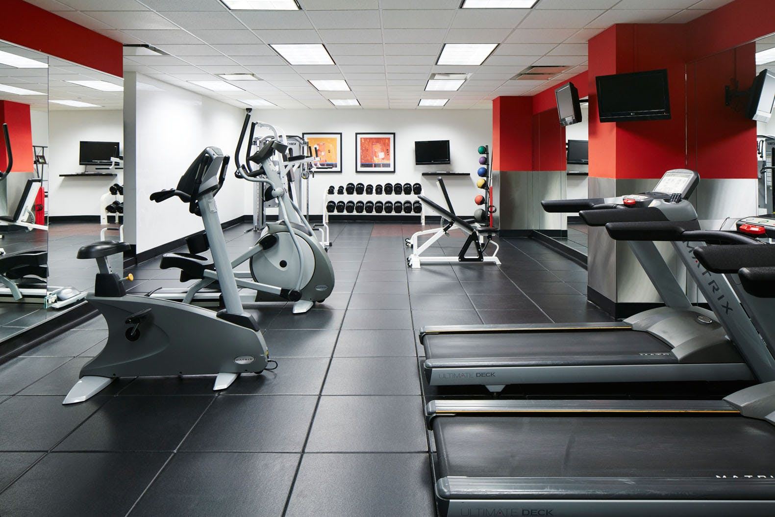 24-Hour Fitness Center at Club Quarters Hotel, Central Loop, Chicago