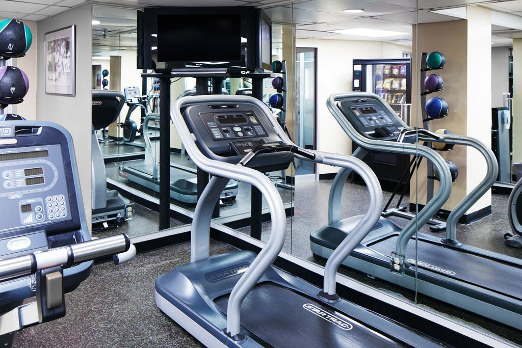Cardio Equipment in the Fitness Center at Club Quarters Hotel in Washington DC