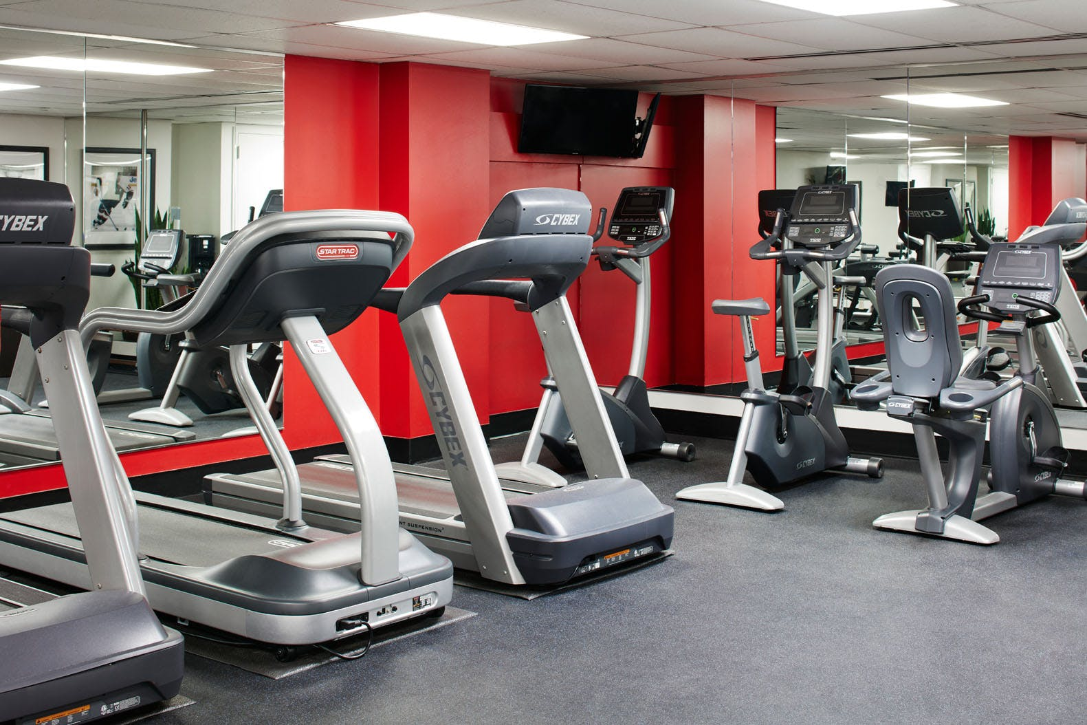 Fitness Center at Club Quarters Hotel in Philadelphia