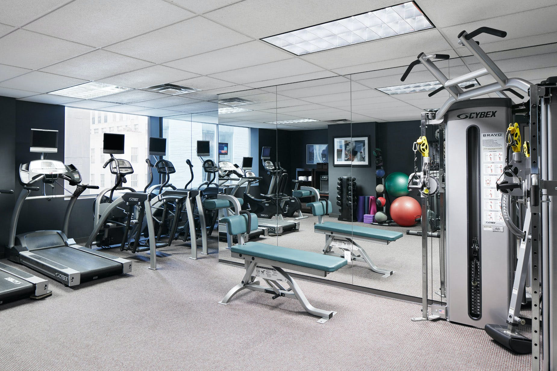 24-Hour Fitness Center at Club Quarters Hotel, opposite Rockefeller Center