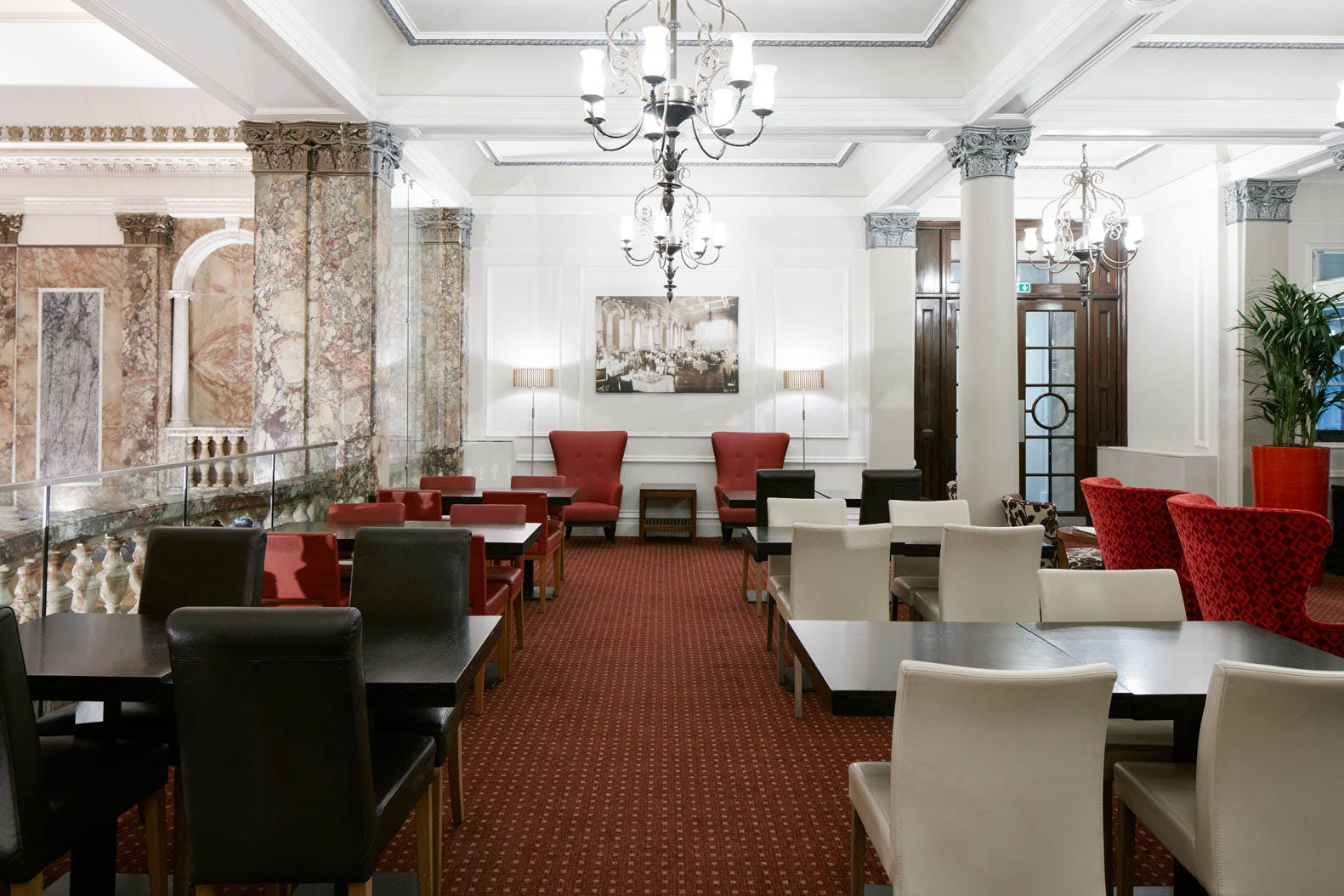 Gallery Lounge at Club Quarters Hotel, Trafalgar Square, London