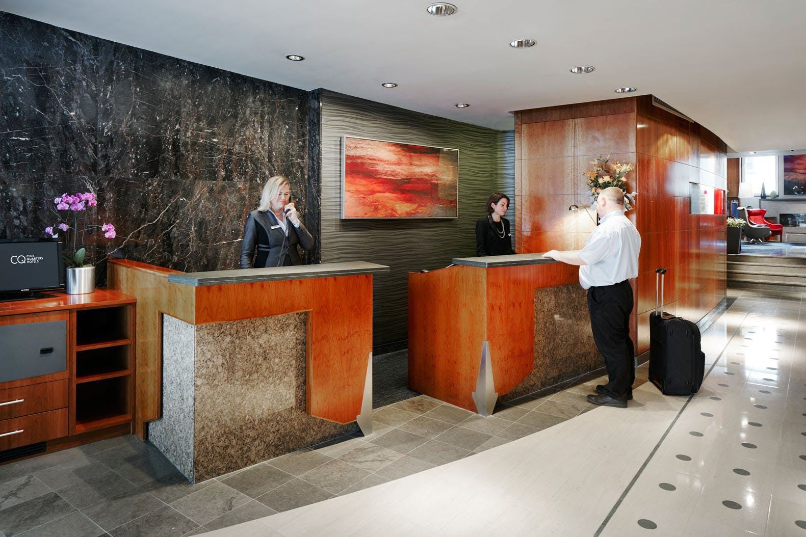 Member Service Desk at Club Quarters Hotel, St. Paul's, London