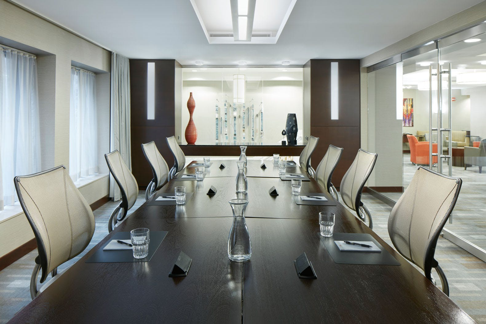 Meeting Room at Club Quarters Hotel, Wacker at Michigan, Chicago