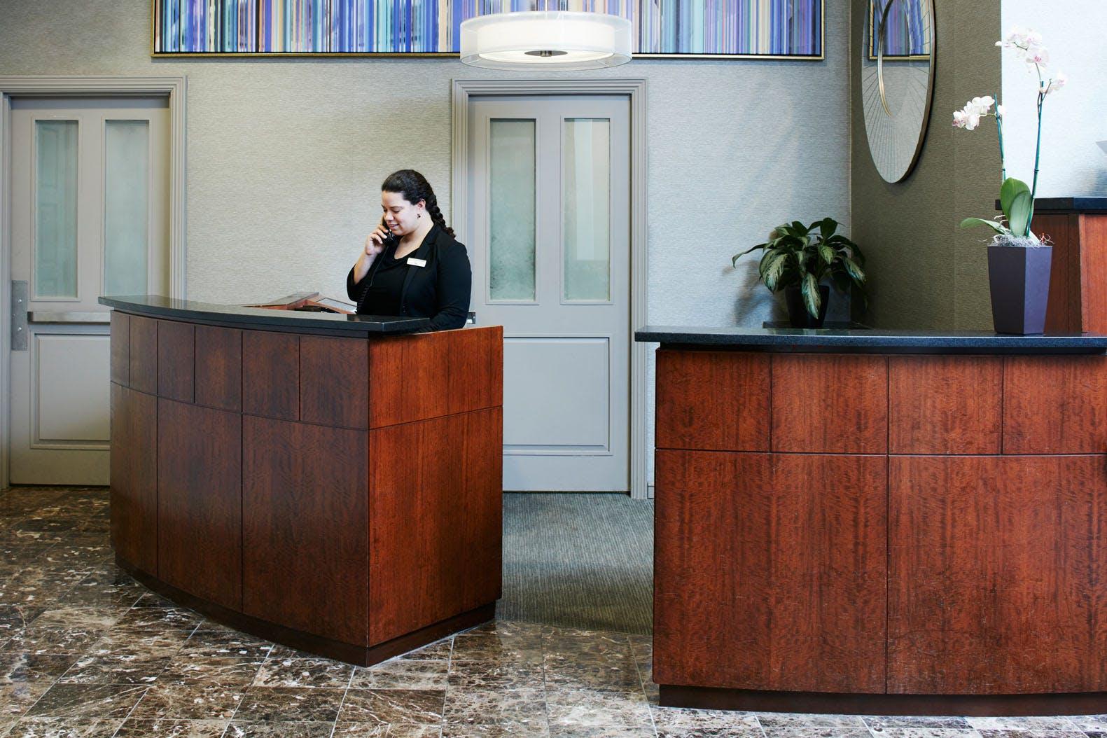 Member Service Desk at Club Quarters Hotel in Philadelphia