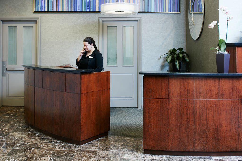 Member Service Desk at Club Quarters Hotel in Philadelphia