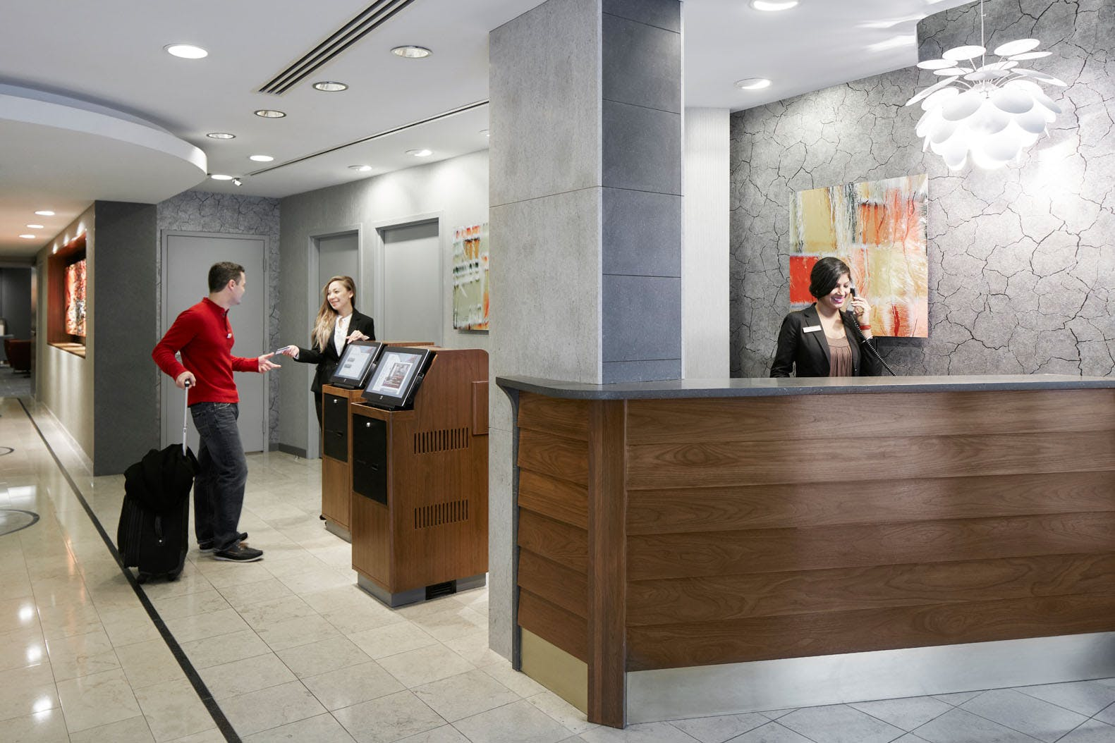 Member Service Desk at Club Quarters Hotel in San Francisco