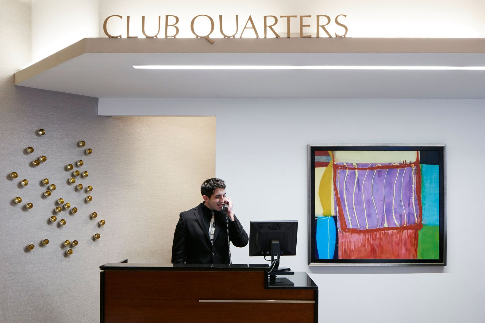 Member Service Desk at Club Quarters Hotel, Wacker at Michigan