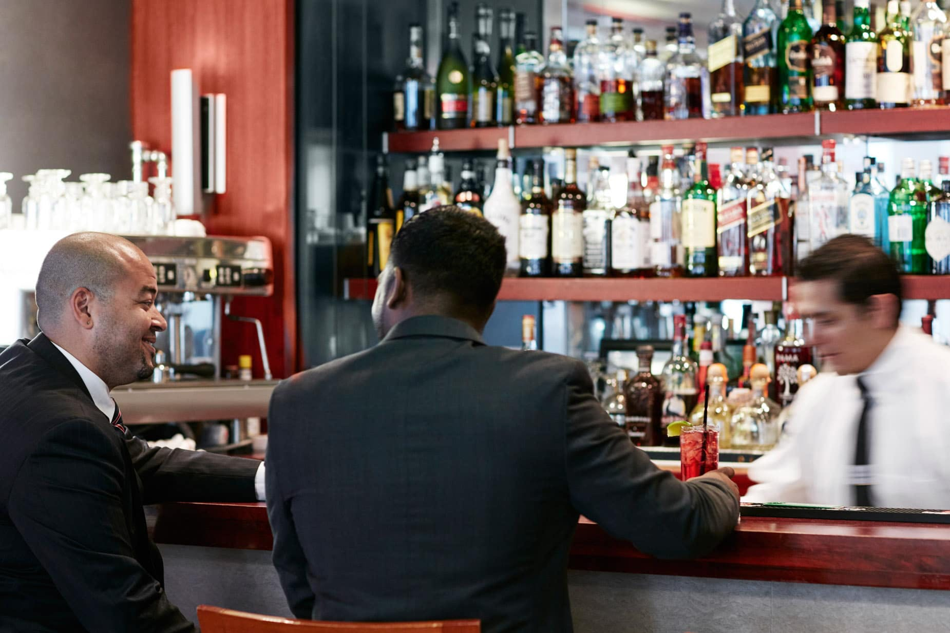 The Terrace Club Bar at Club Quarters Hotel, opposite Rockefeller Center