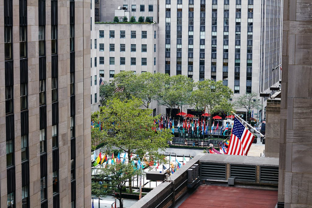 View From The Terrace Club At Quarters Hotel Opposite Rockefeller Center