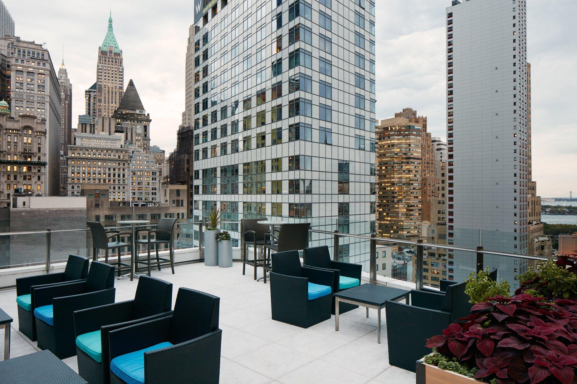Sun Terrace at Club Quarters Hotel, World Trade Center