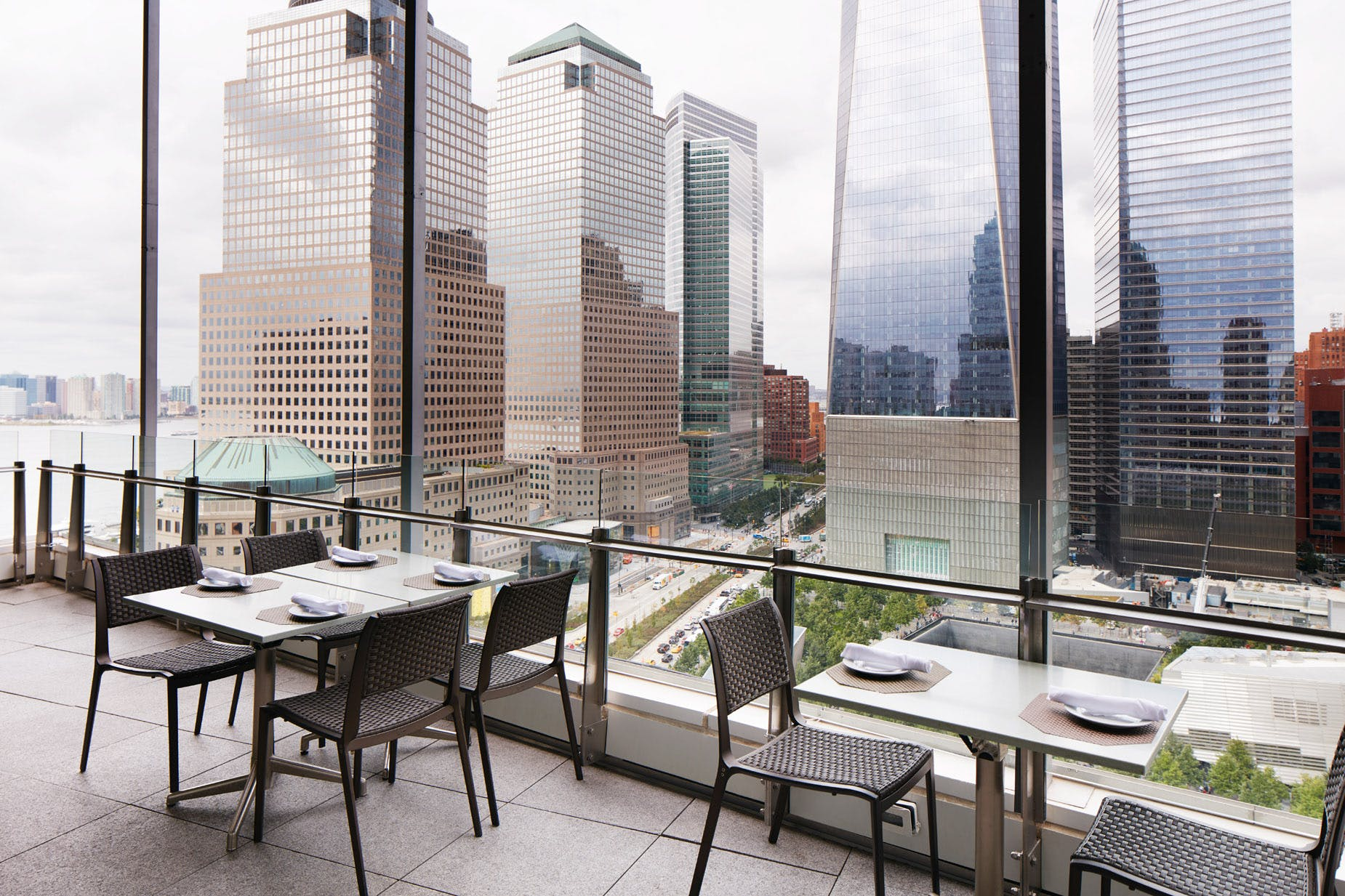 View of the World Terrace Club at Club Quarters Hotel, World Trade Center