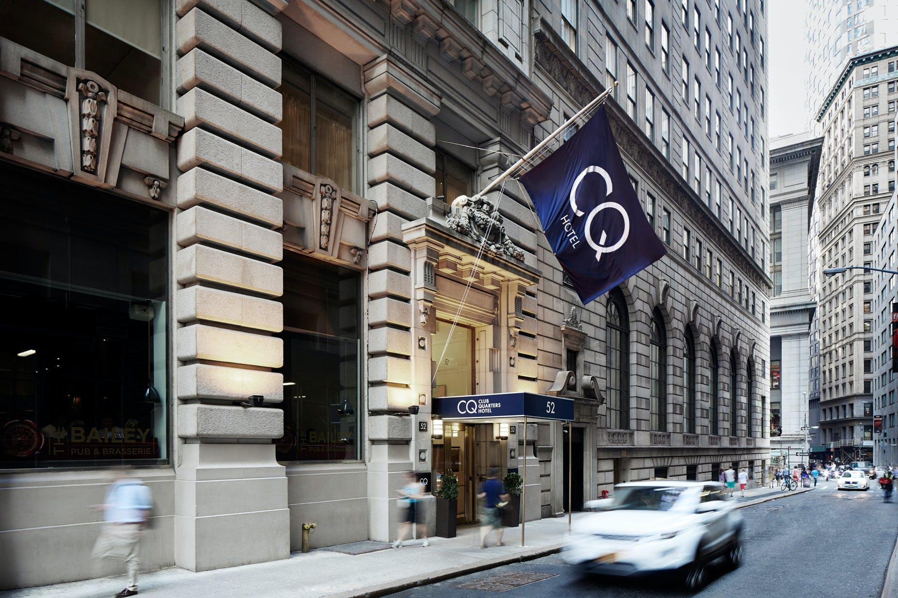 Exterior of Club Quarters Hotel, Wall Street