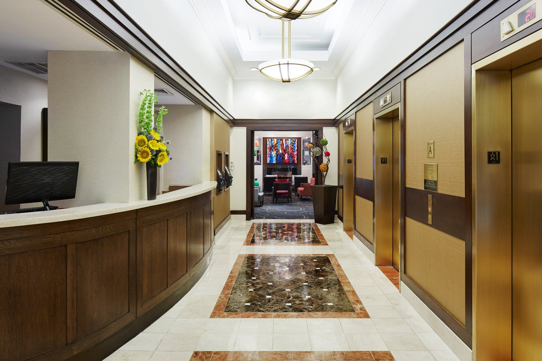 Lobby at Club Quarters Hotel, Wall Street