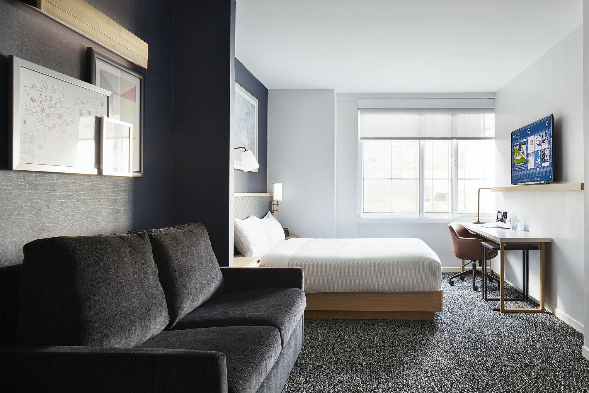Newly renovated Superior Room at Club Quarters Hotel in Washington DC