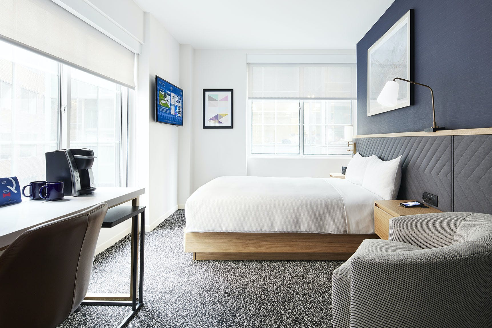 Newly renovated Standard Room at Club Quarters Hotel in Washington DC