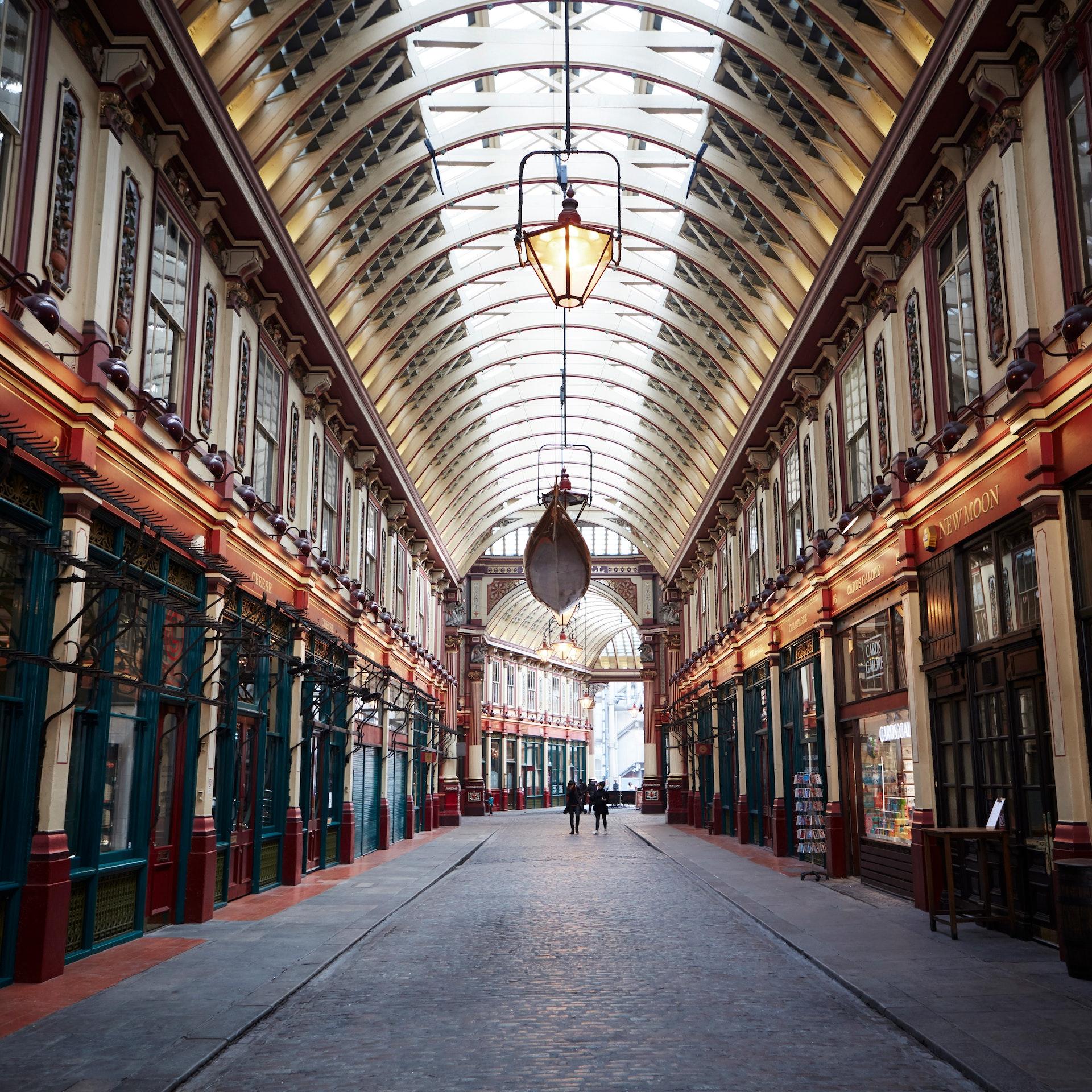 Interior of Leadenhall Market, London