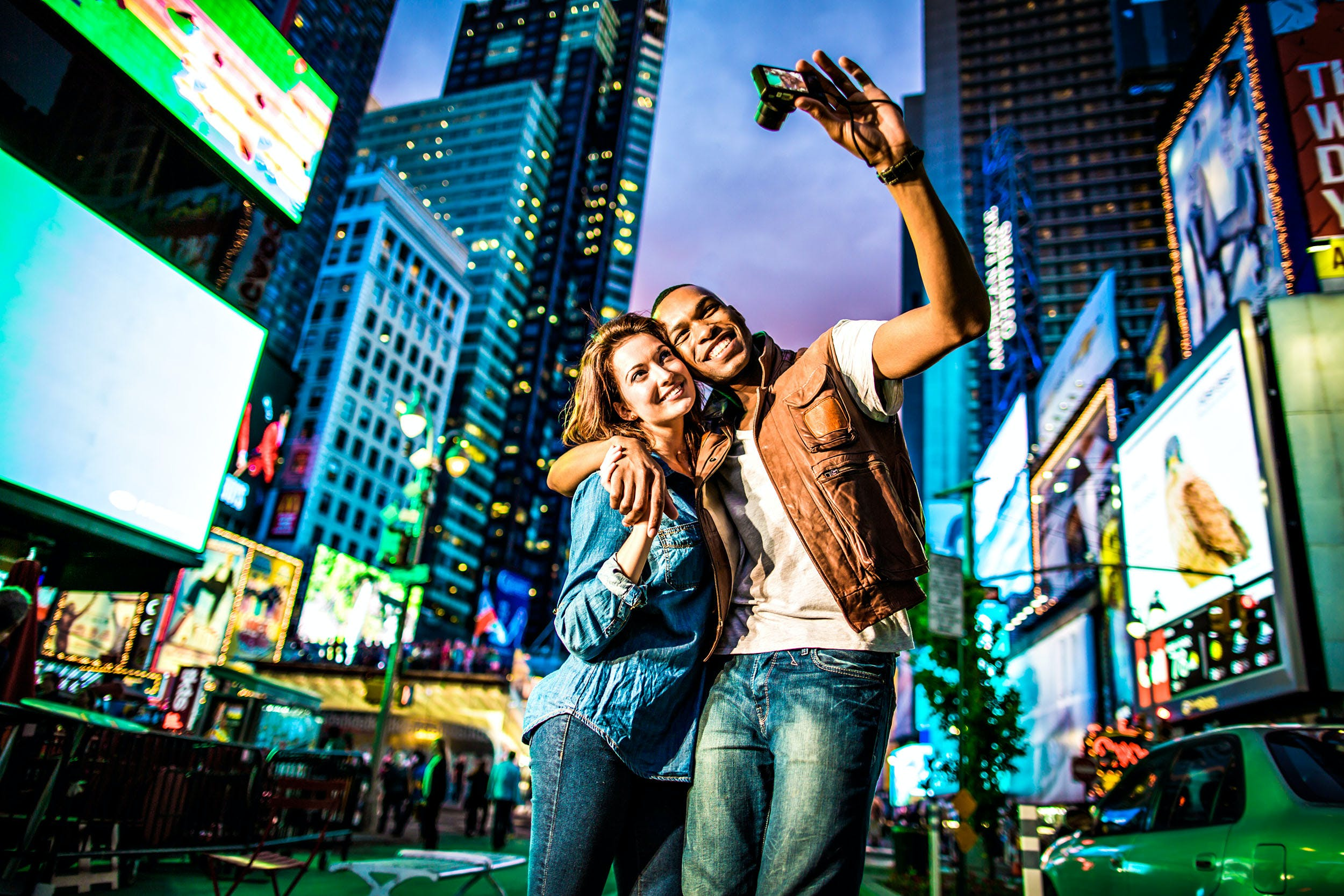 Couple in Times Square - New York City