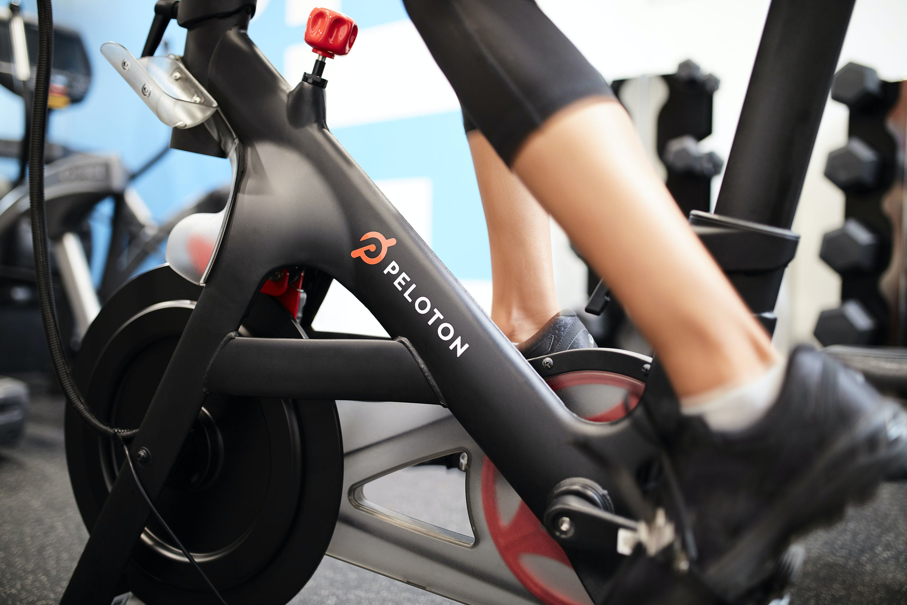 Peloton bike with free live and on-demand spin classes at Club Quarters Hotels