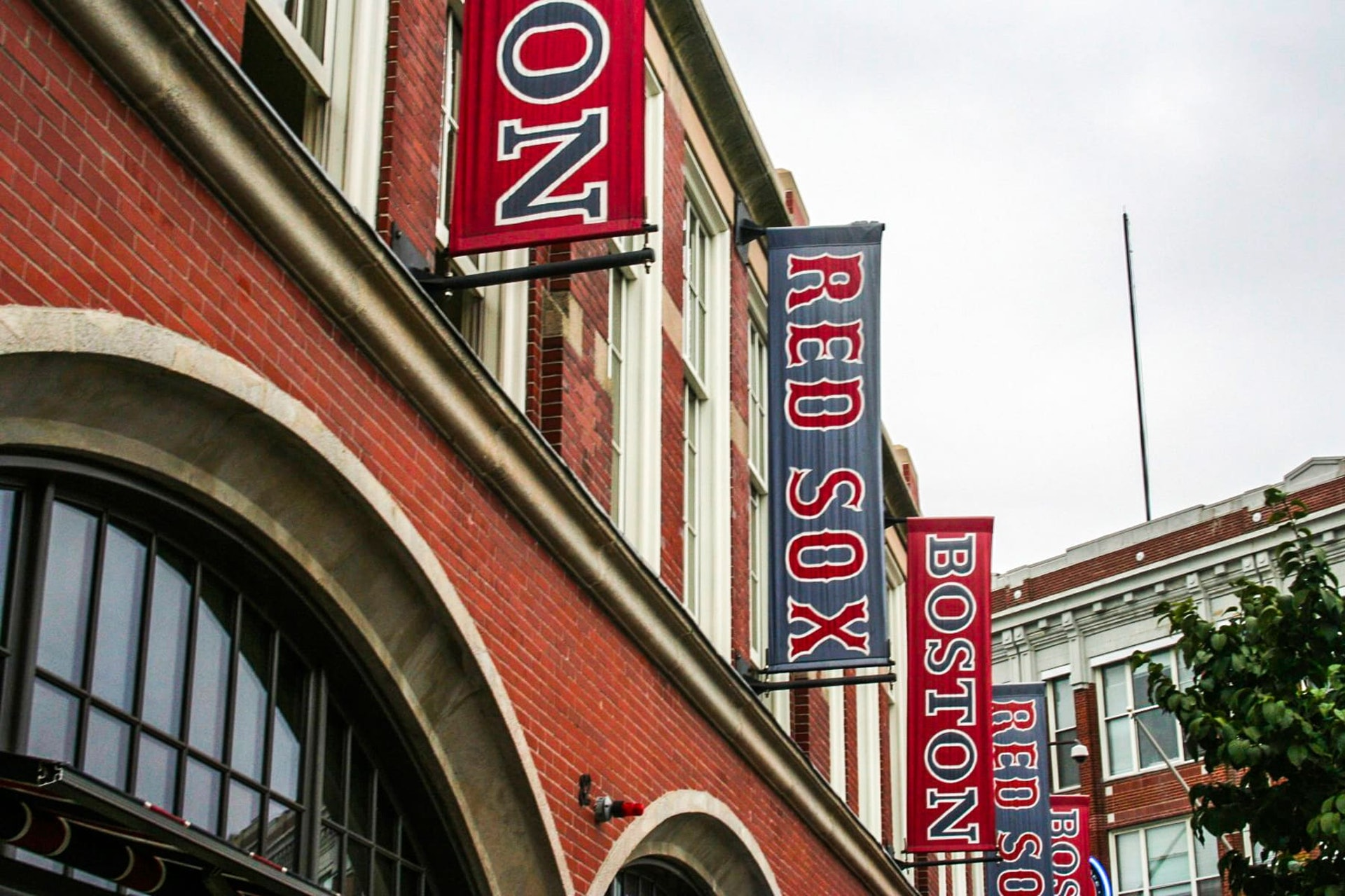 Exterior of Fenway Park, home of the Red Sox baseball team in Boston