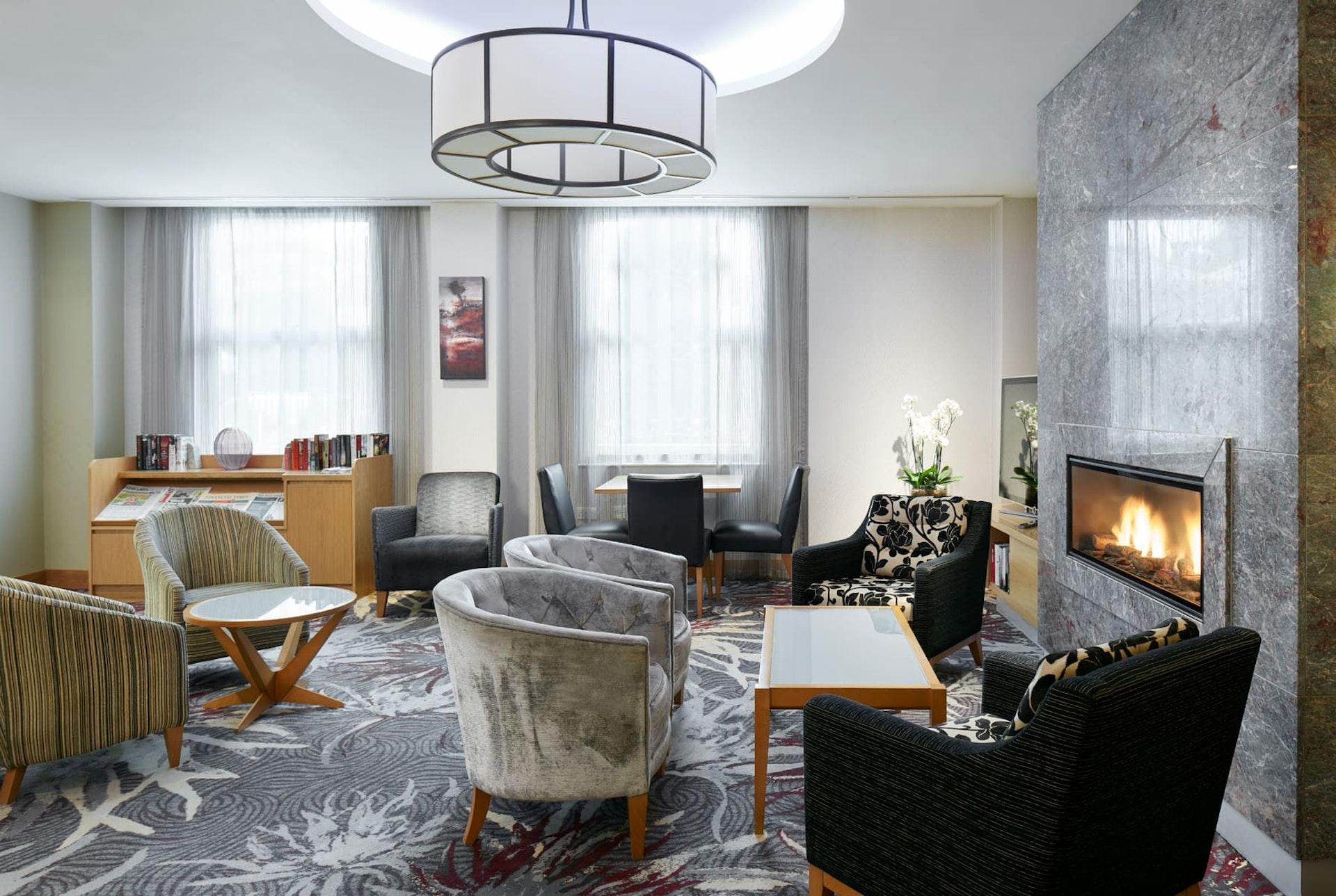 Club Living Room at CQ Hotel, Lincoln's Inn Fields, London