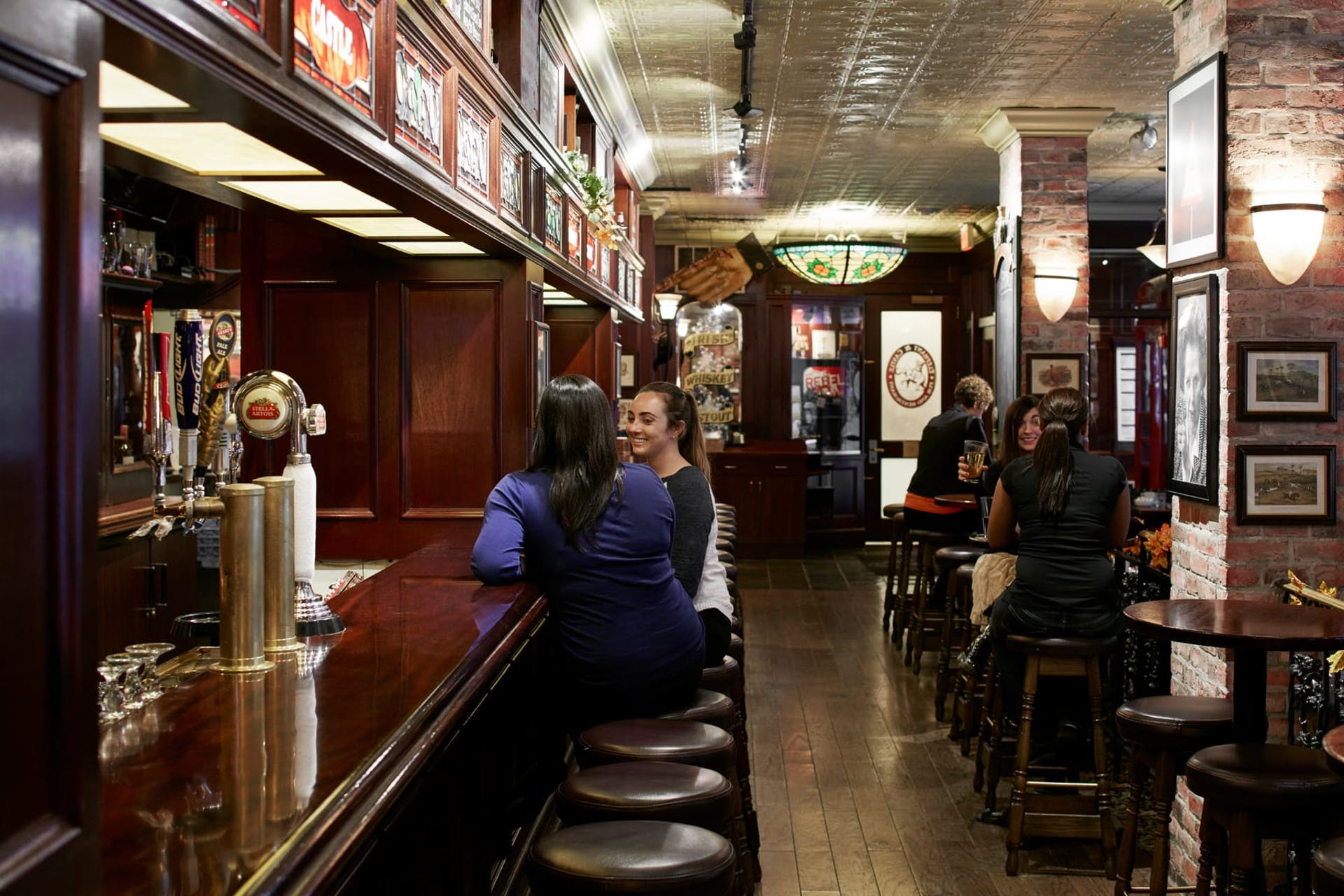 Interior of Elephant and Castle bar in Boston