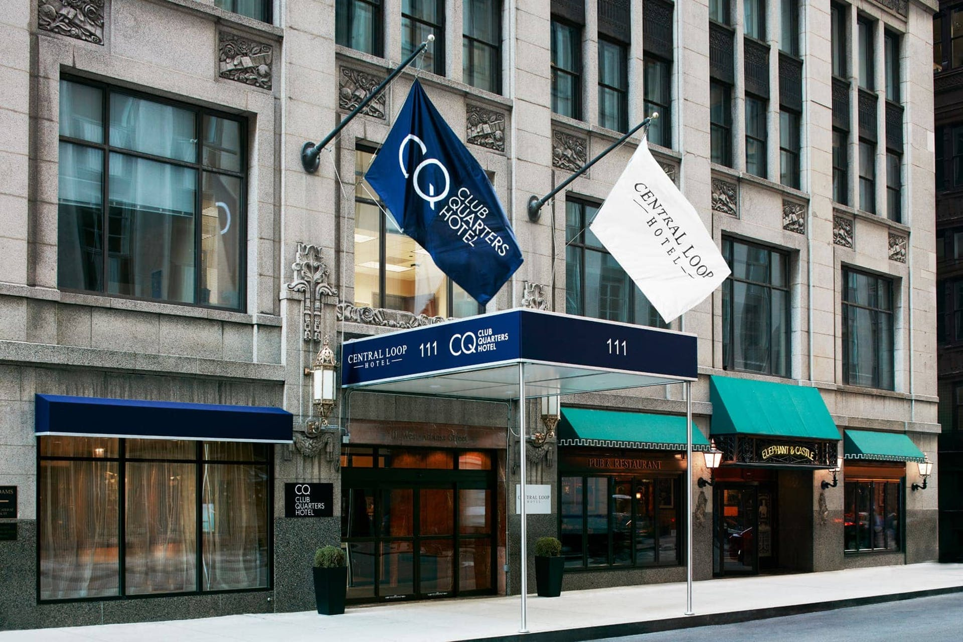 Exterior of CQ Hotel, Central Loop, Chicago
