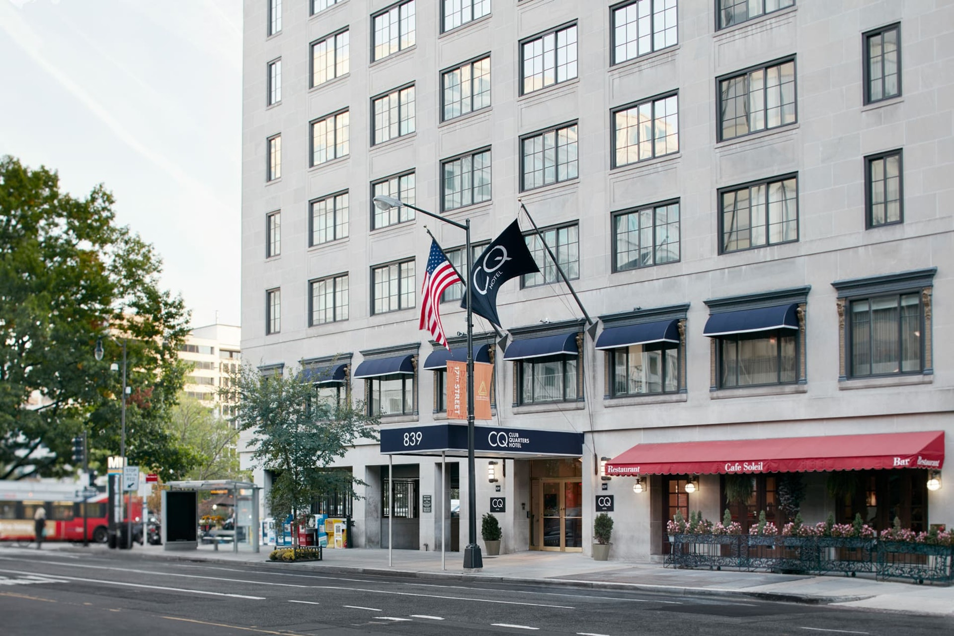 Exterior of CQ Hotel, Washington DC