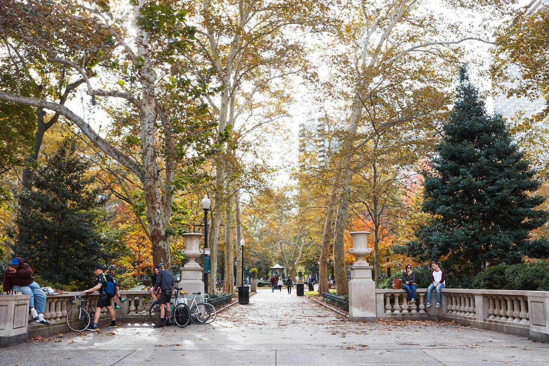 Walkway in park, Philadelphia