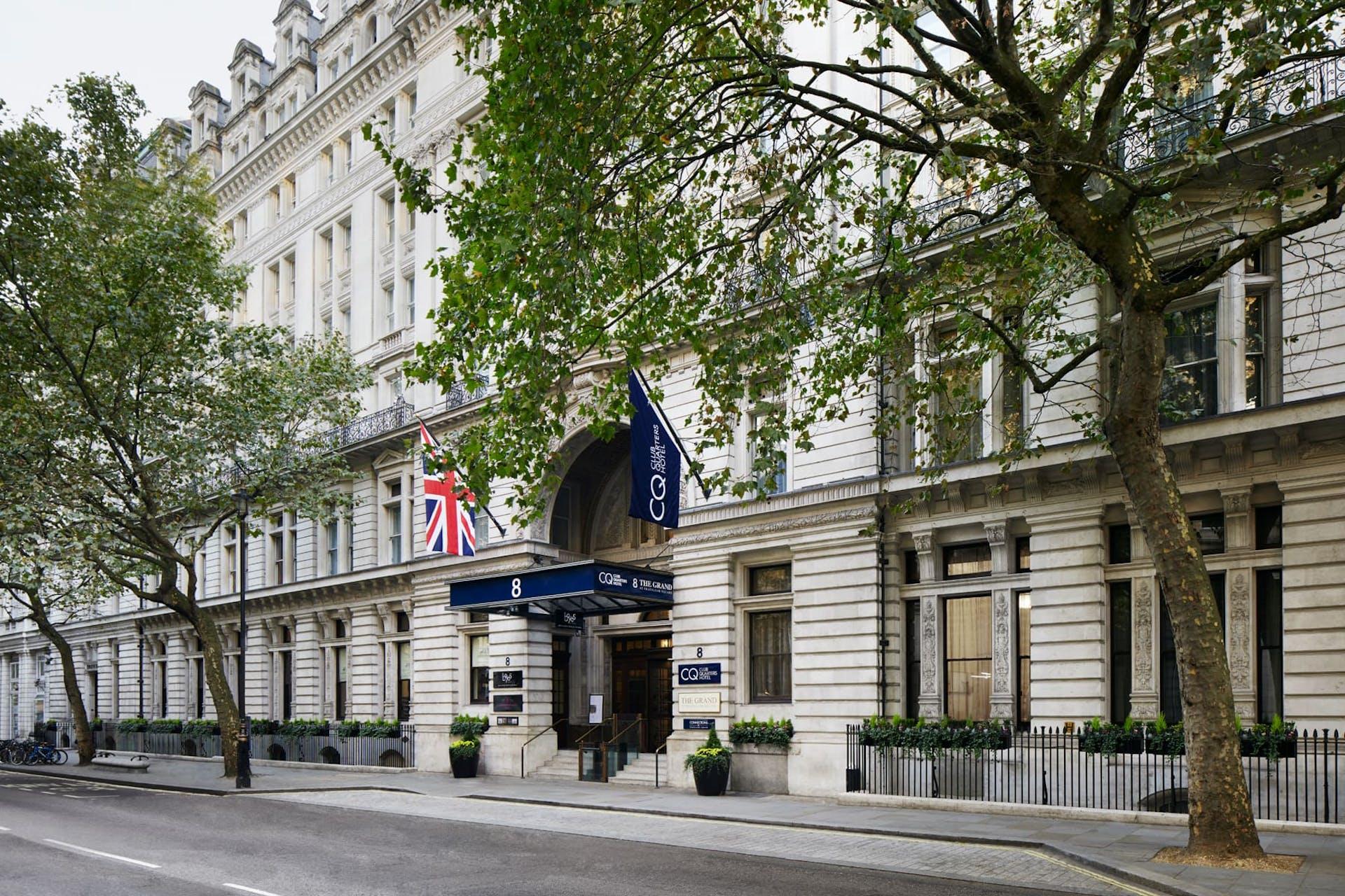 Exterior of CQ hotel, Trafalgar Square, London