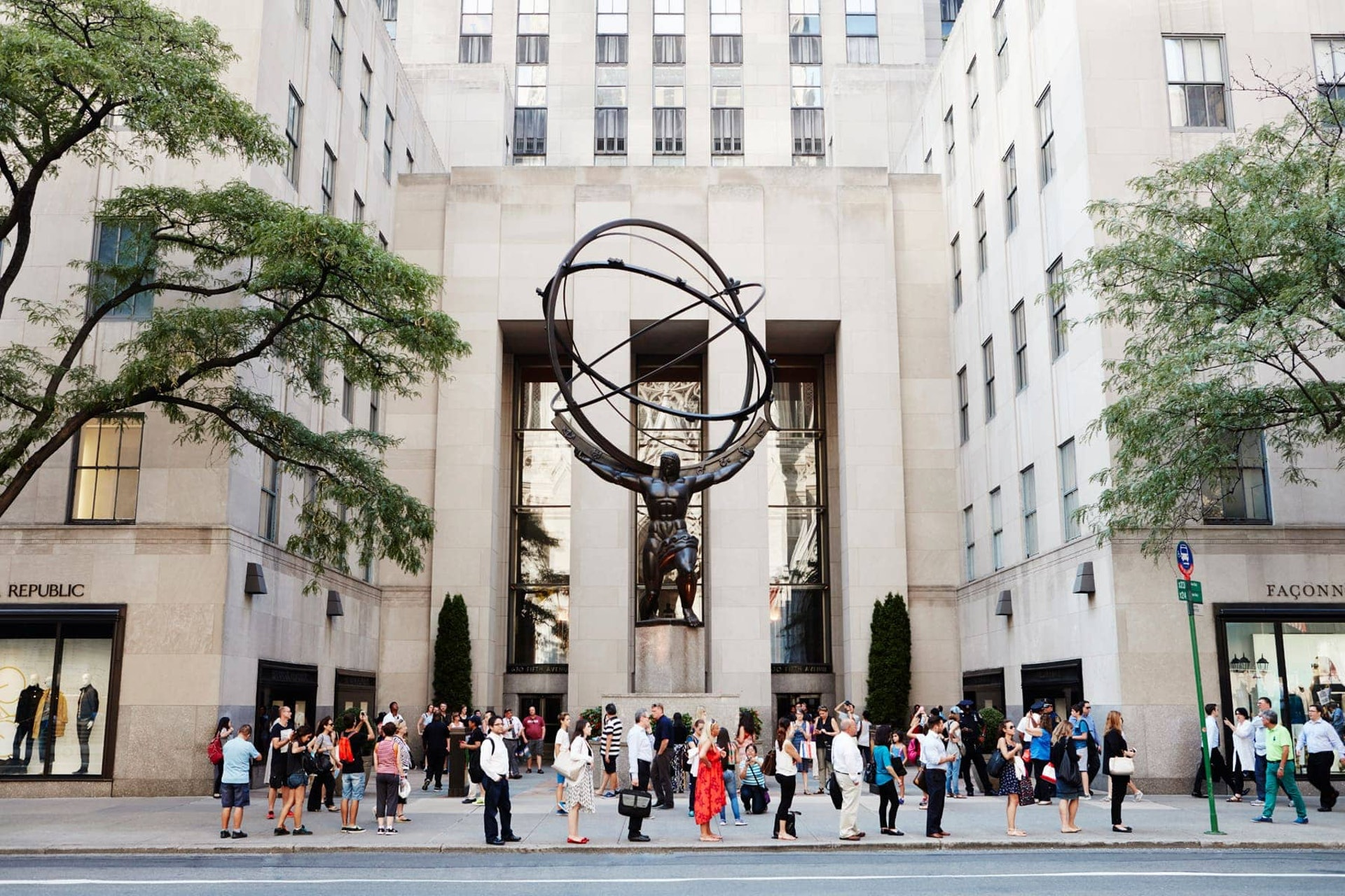 Sculpture outside Rockefeller Center, New York